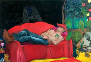 Alppilan Ilmestys, Apparition in Alppila, oil on canvas, 150x180cm, 2007