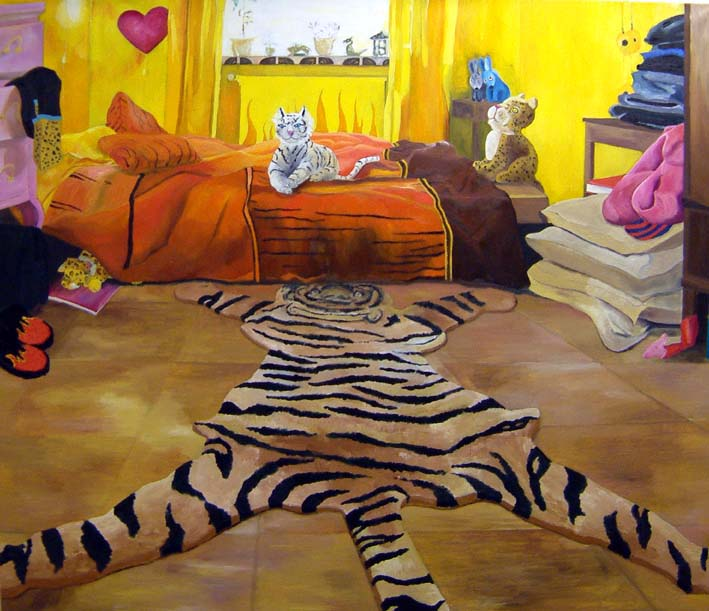 I think we are alone now, oil on canvas, 180x 210cm, 2004, Amos Anderson Art museum