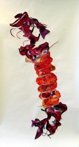 Scarlet, watercolor on paper, 270x120cm,2004