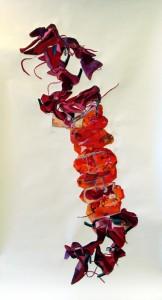 Scarlet, watercolor on paper, 270x120cm,2004