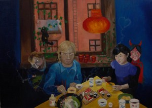 Shabu-Shabu, oil on canvas, 150x170cm,2005