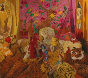Meanwhile, deep in the jungle..oil on canvas, 150x170cm, Private collection, 2005