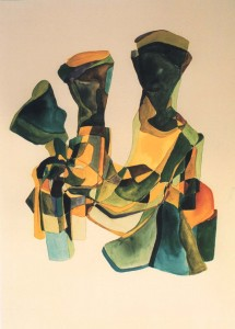 Mujer, watercolor on paper, 57x75cm,2001