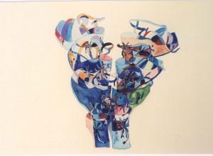 Shanghai Surprise, watercolor on paper, 57x75cm, 2001